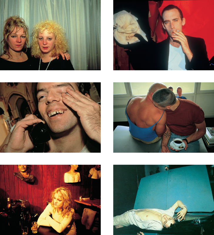 Six color images of people in various scenes.
