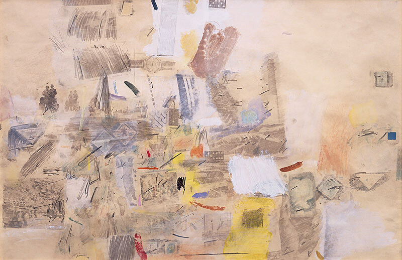 Abstract art by Robert Rauschenberg.