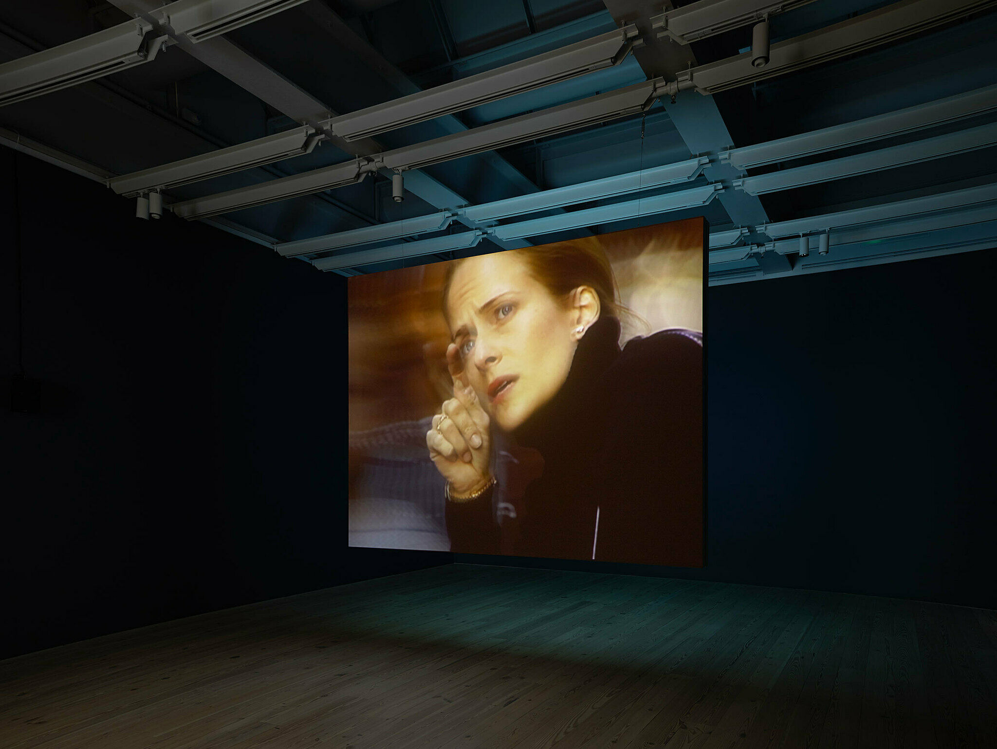 Installation view of Laura Poitras: Astro Noise (Whitney Museum of American Art, New York, February 5—May 1, 2016). Photograph by Ronald Amstutz