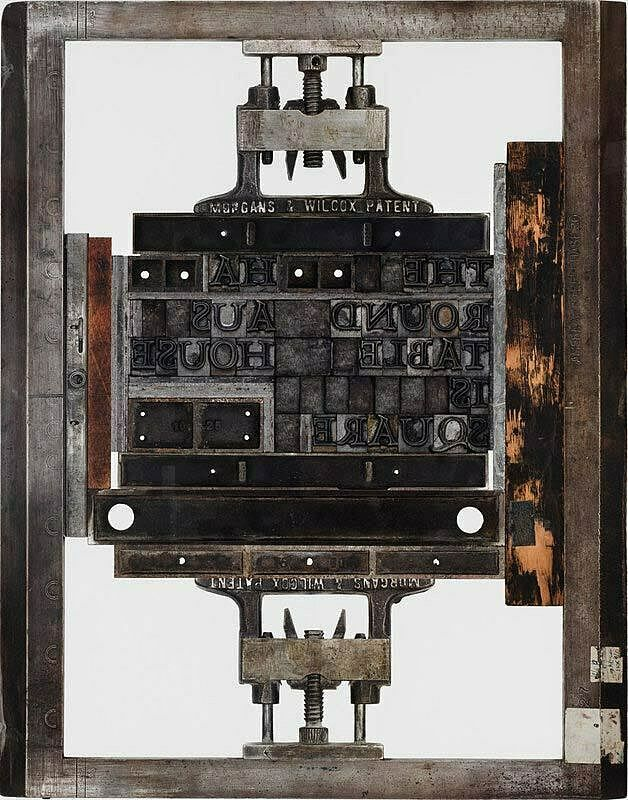 Artwork that represents a printing press.