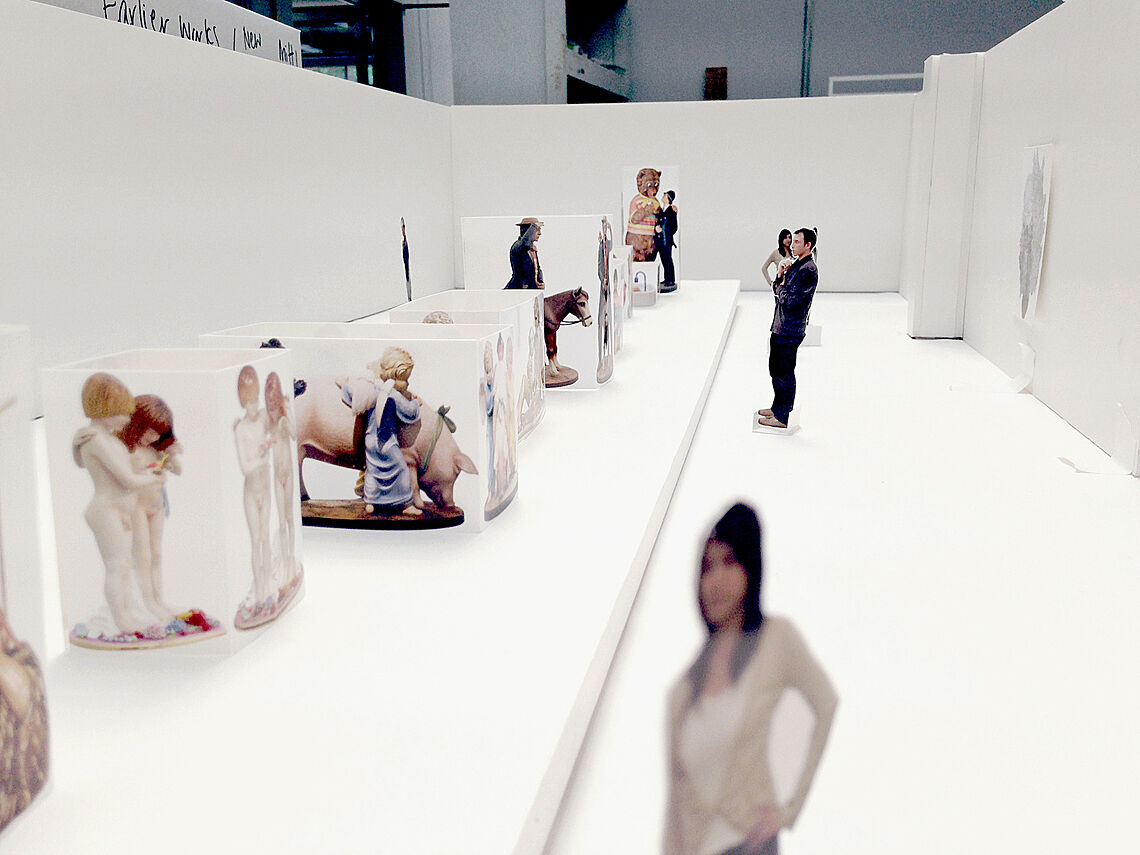 Scale model of Koons Exhibit.