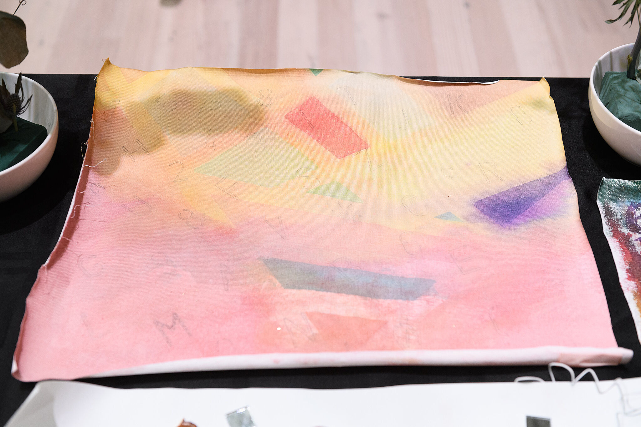 Bright pastel painting on a canvas.