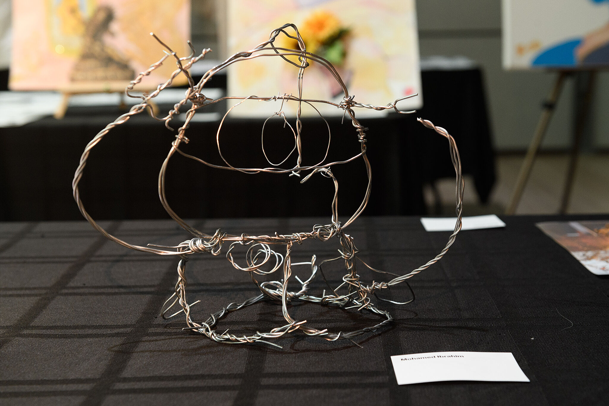Abstract crown like shape made from wire.