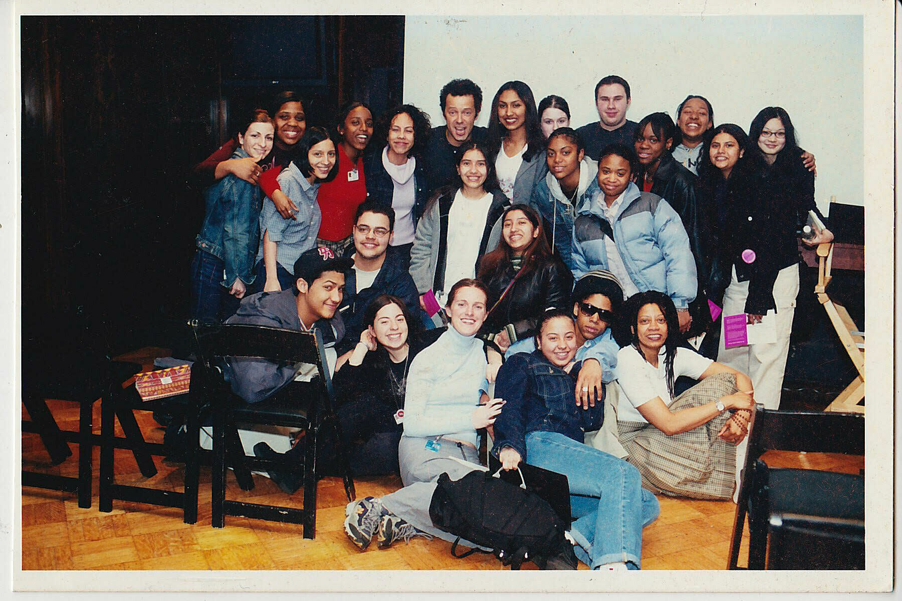 Group photo of Youth Insight Participants at the Whitney Museum in 2000-2001.