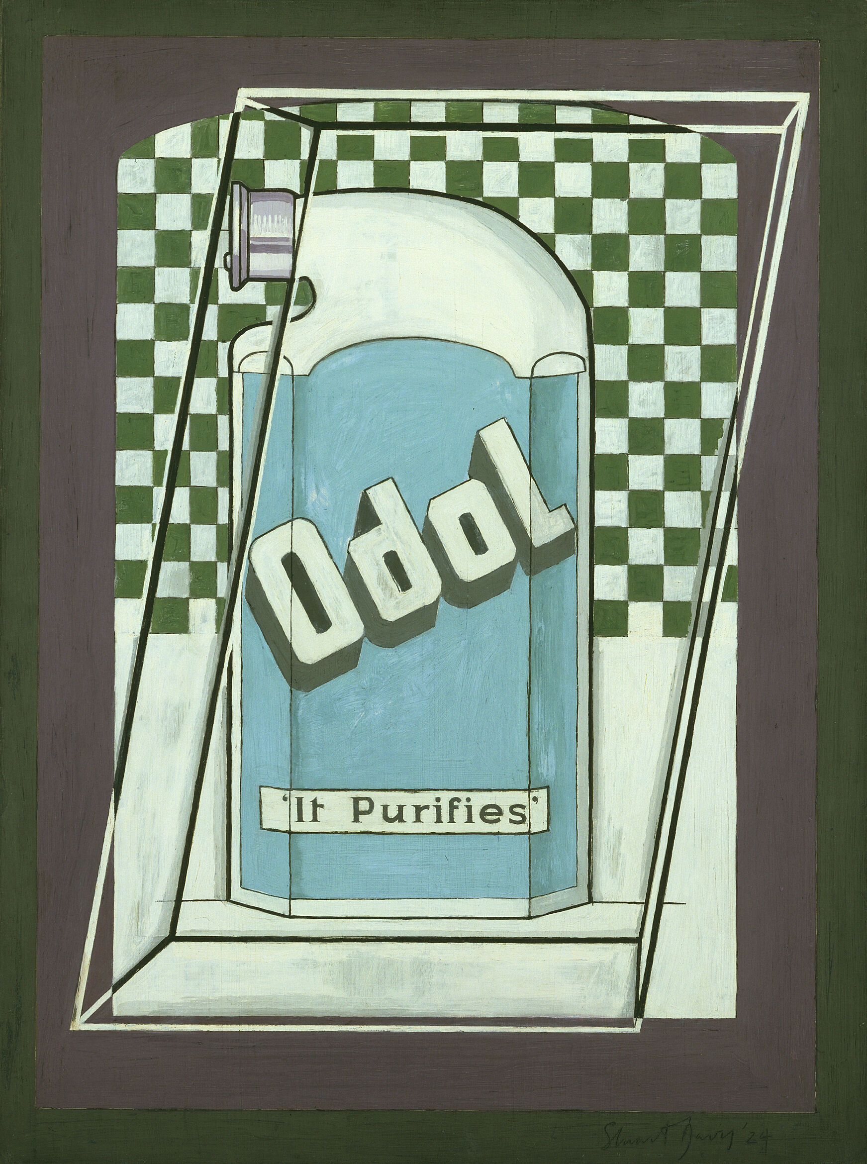 "A painting of mouthwash labeled ""Odol."""
