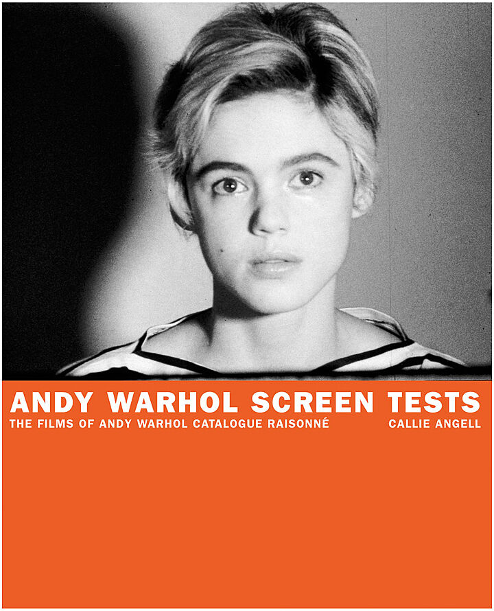 "The cover of ""Andy Warhol Screen Tests"""