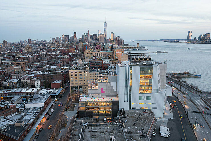 Aerial shot of the Whitney