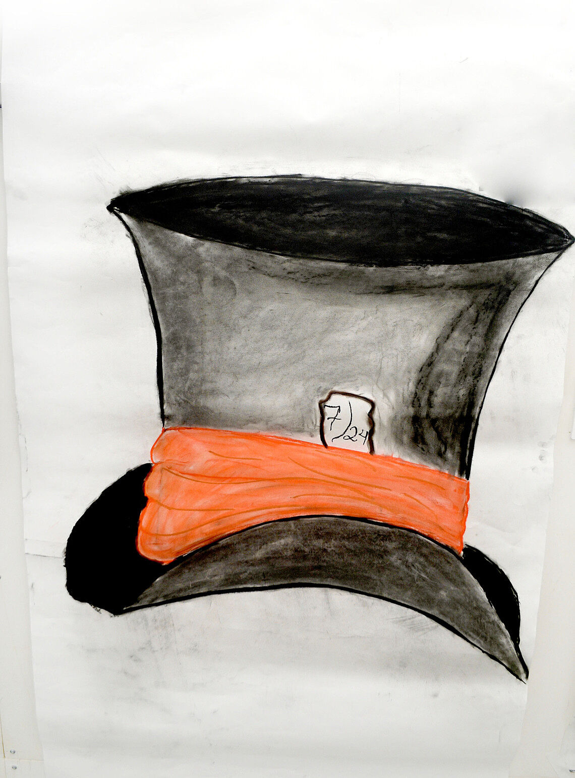 Drawing of a top hat.