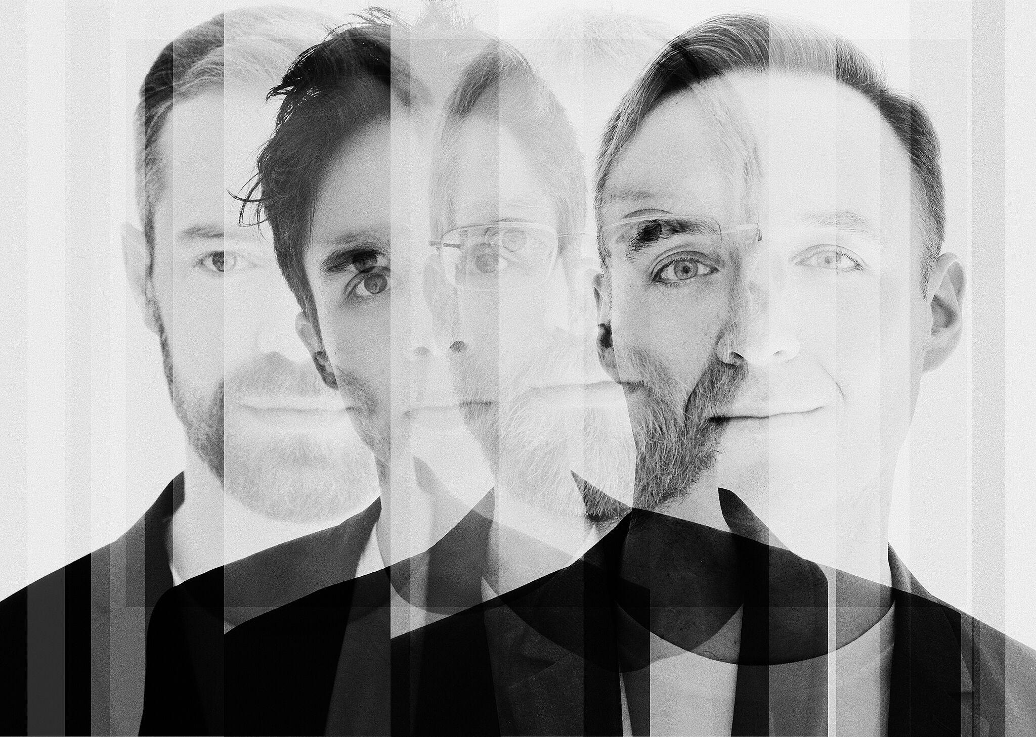 Black and white photograph of JACK Quartet