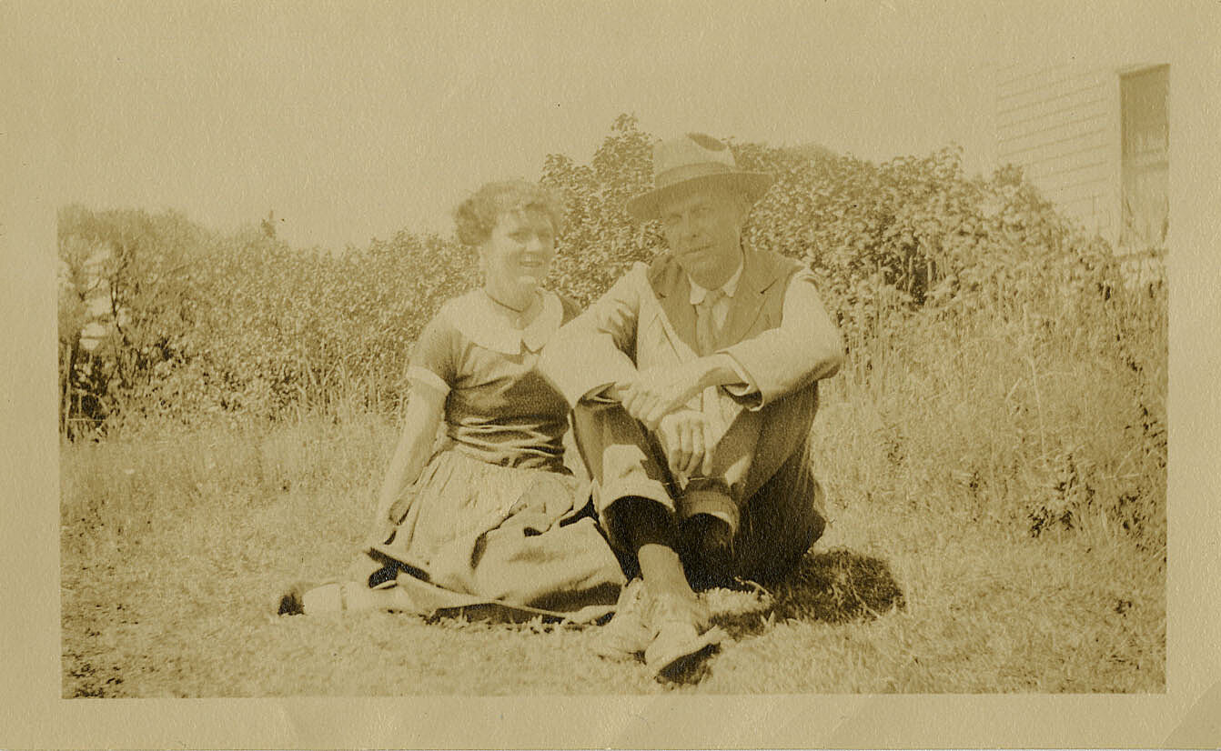 Portrait of Edward and Josephine Hopper at Two Lights, Cape Elizabeth, Maine.