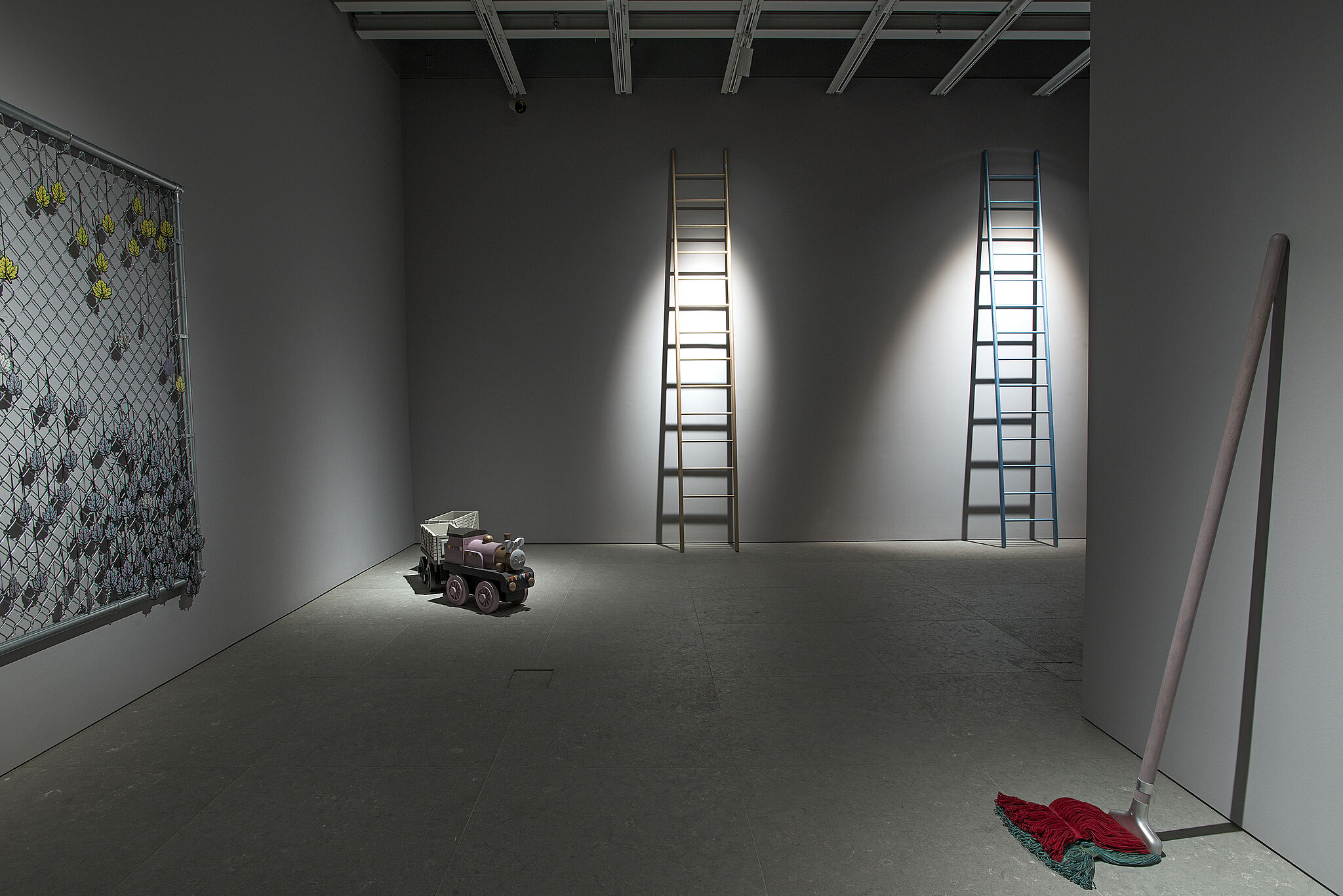 Installation view of Bunny Rogers: Brig Und Ladder
