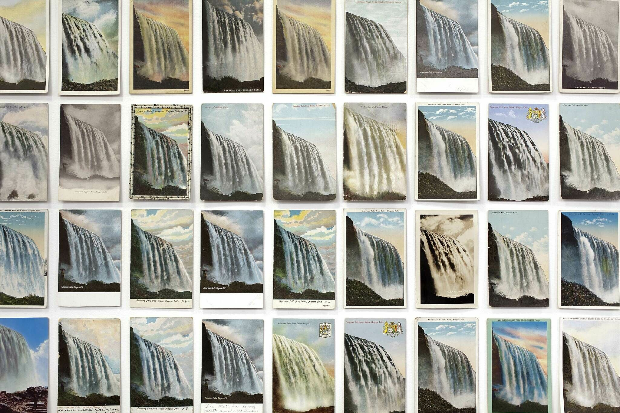 Grid of postcards.