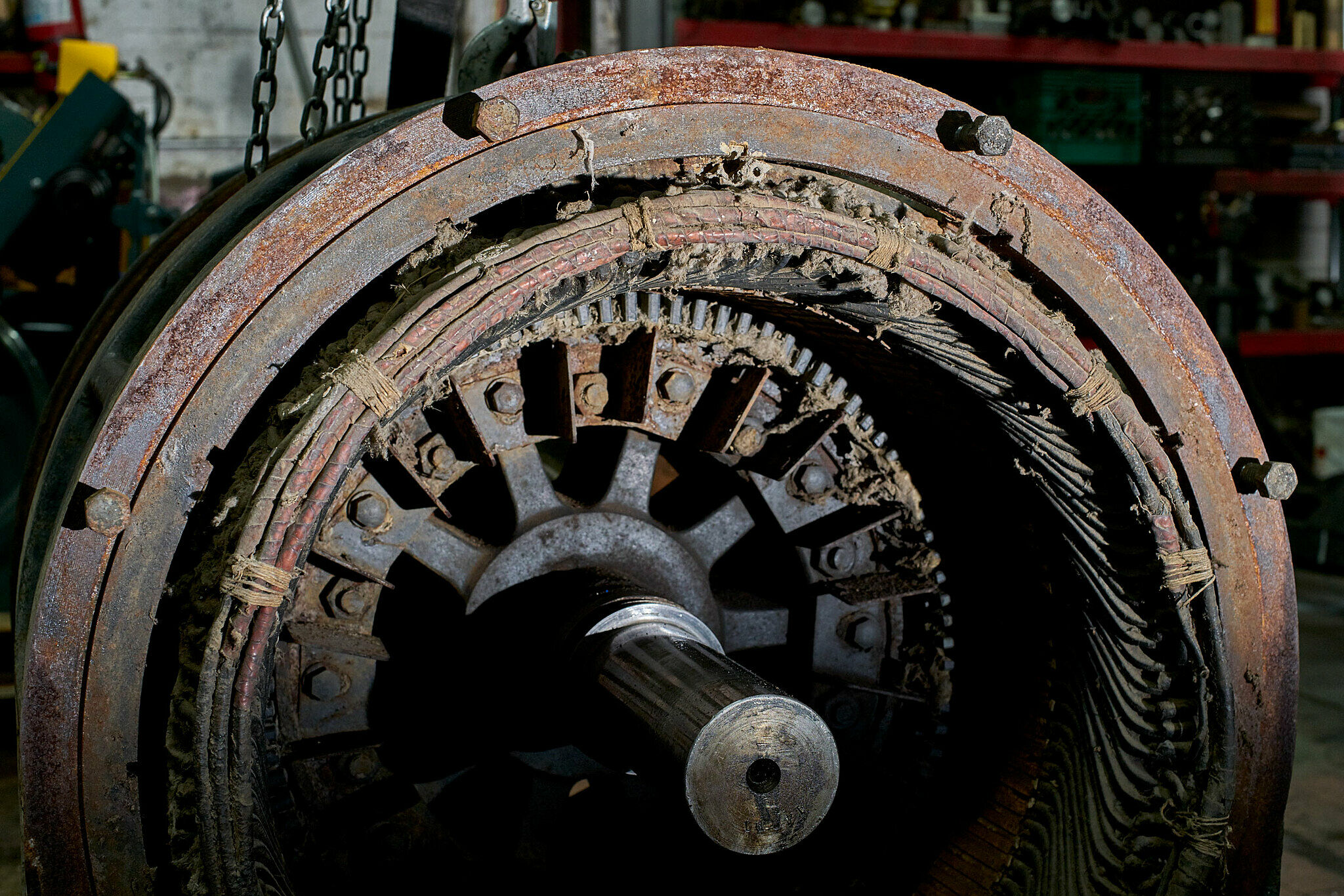 A cotton gin motor