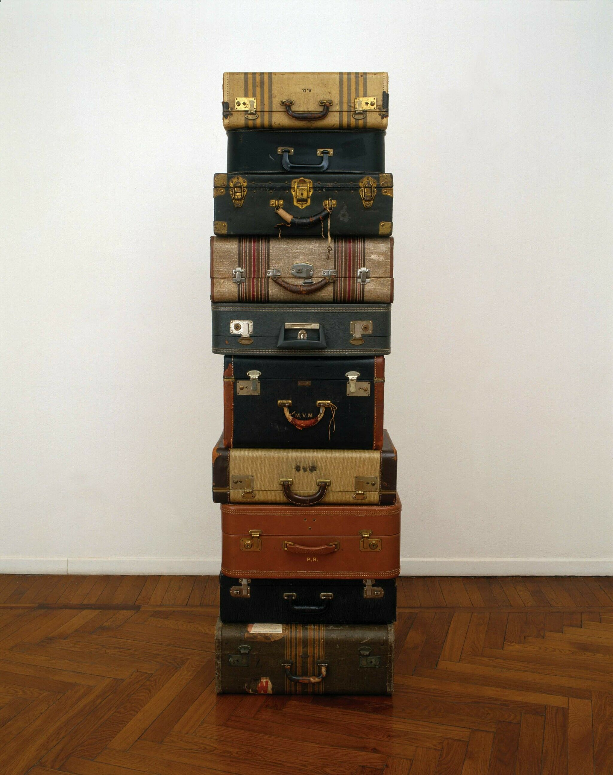 Stack of suitcases.
