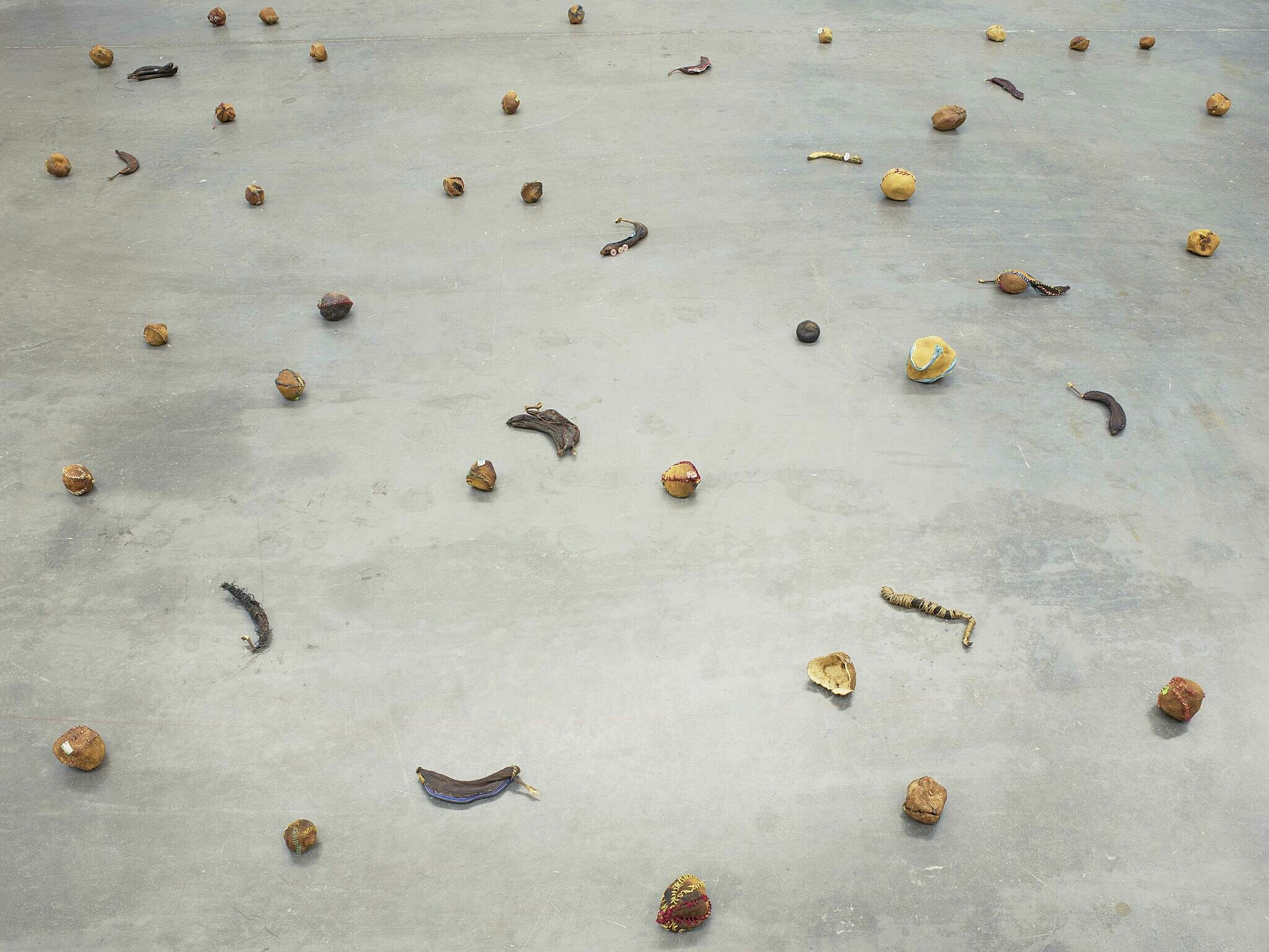 Fruit on a floor.