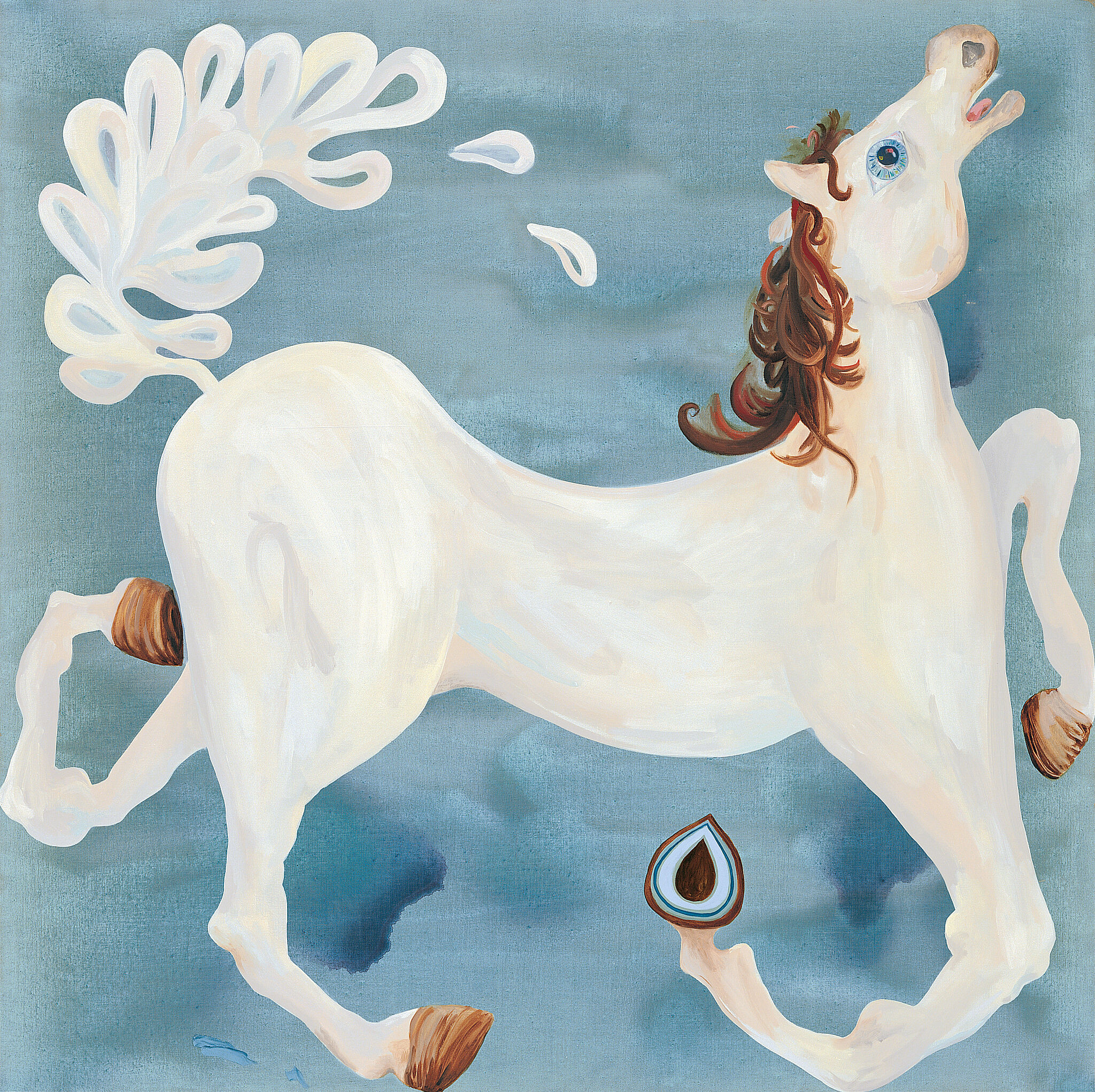 painting of a white horse