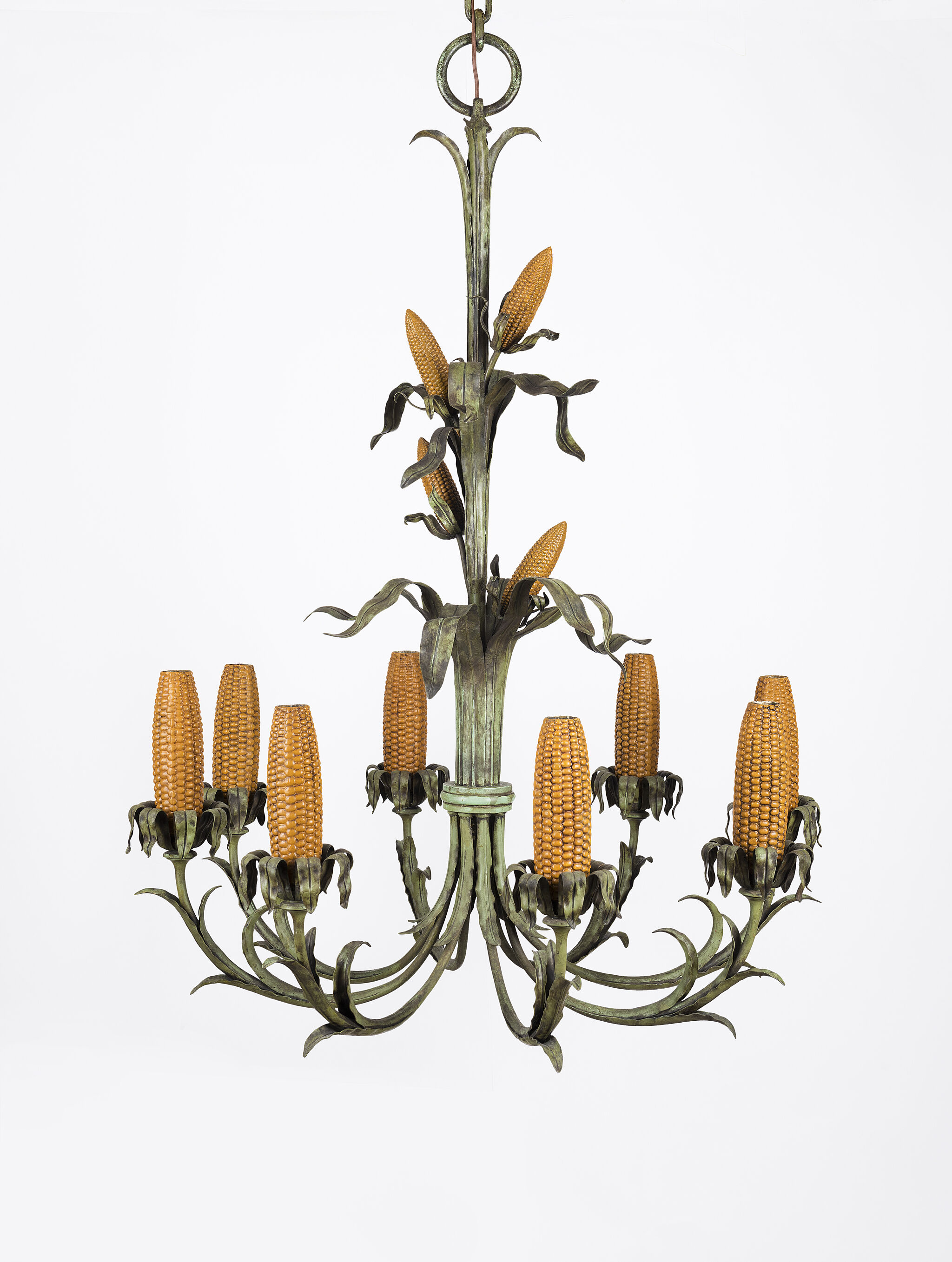 Chandelier Sculpture made from Corn Cobb