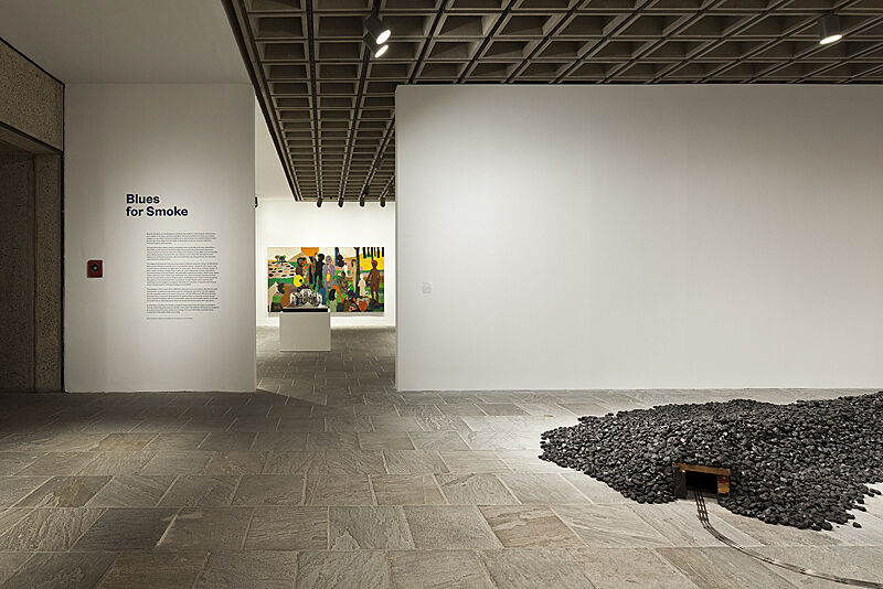 Photograph of installation view of Blues for Smoke exhibition.