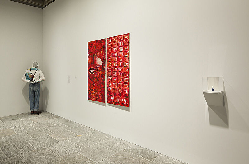 Photograph of installation view of exhibition Blues for Smoke.