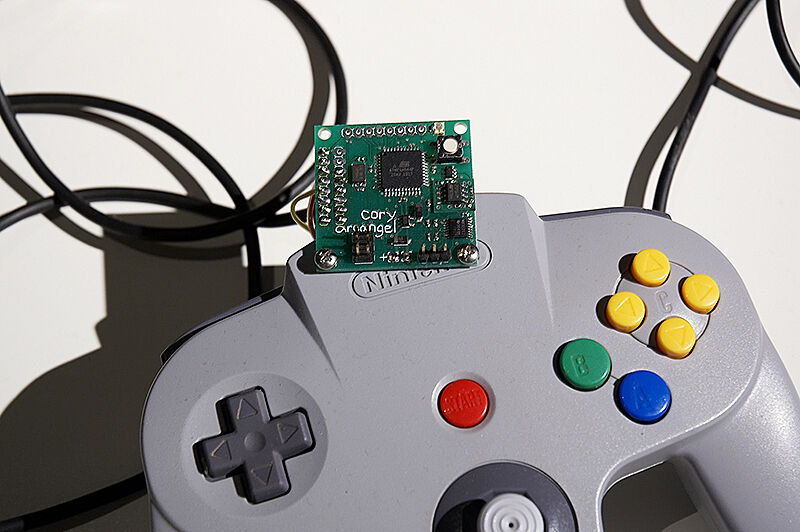 Close-up image of Nintendo video game controller.