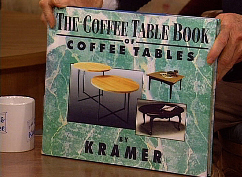 Photograph of THE COFFEE TABLE BOOK OF COFFEE TABLES.
