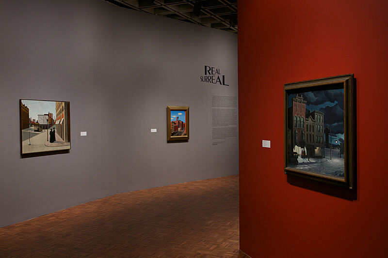 Installation view of Real/Surreal exhibition.