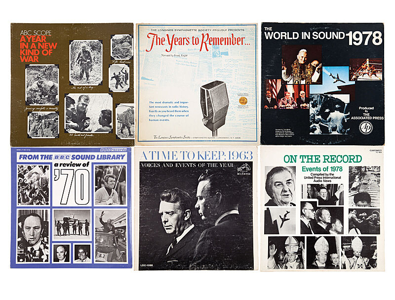 Image depicting several album covers from the 1960s and 1970s.