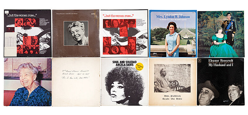 Image depicting a collage of album covers that feature revolutionary women of our time.