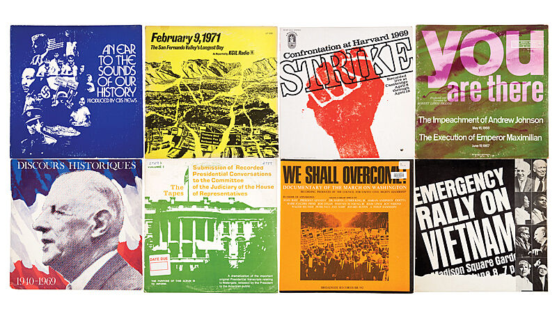 Image depicting several album covers dedicated to protest, revolution and social movements.