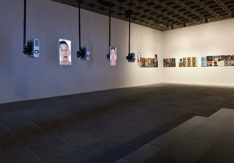 Installation view of Sharon Hayes: There's so much I want to say to you exhibition.