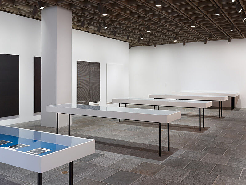 Installation view of Wade Guyton OS exhibition.