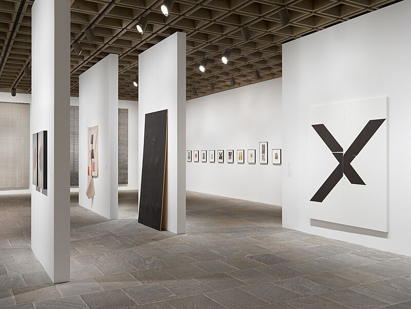 Installation view of Wade Guyton OS