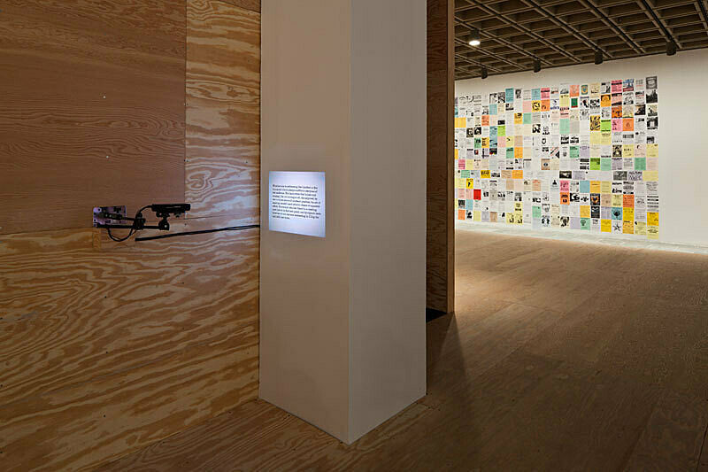 Installation view of Sharon Hayes: There's so much I want to say to you.