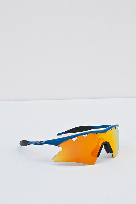Photograph of mirrored sunglasses.