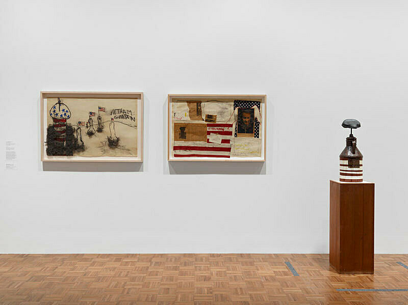 Installation view of Sinister Pop.
