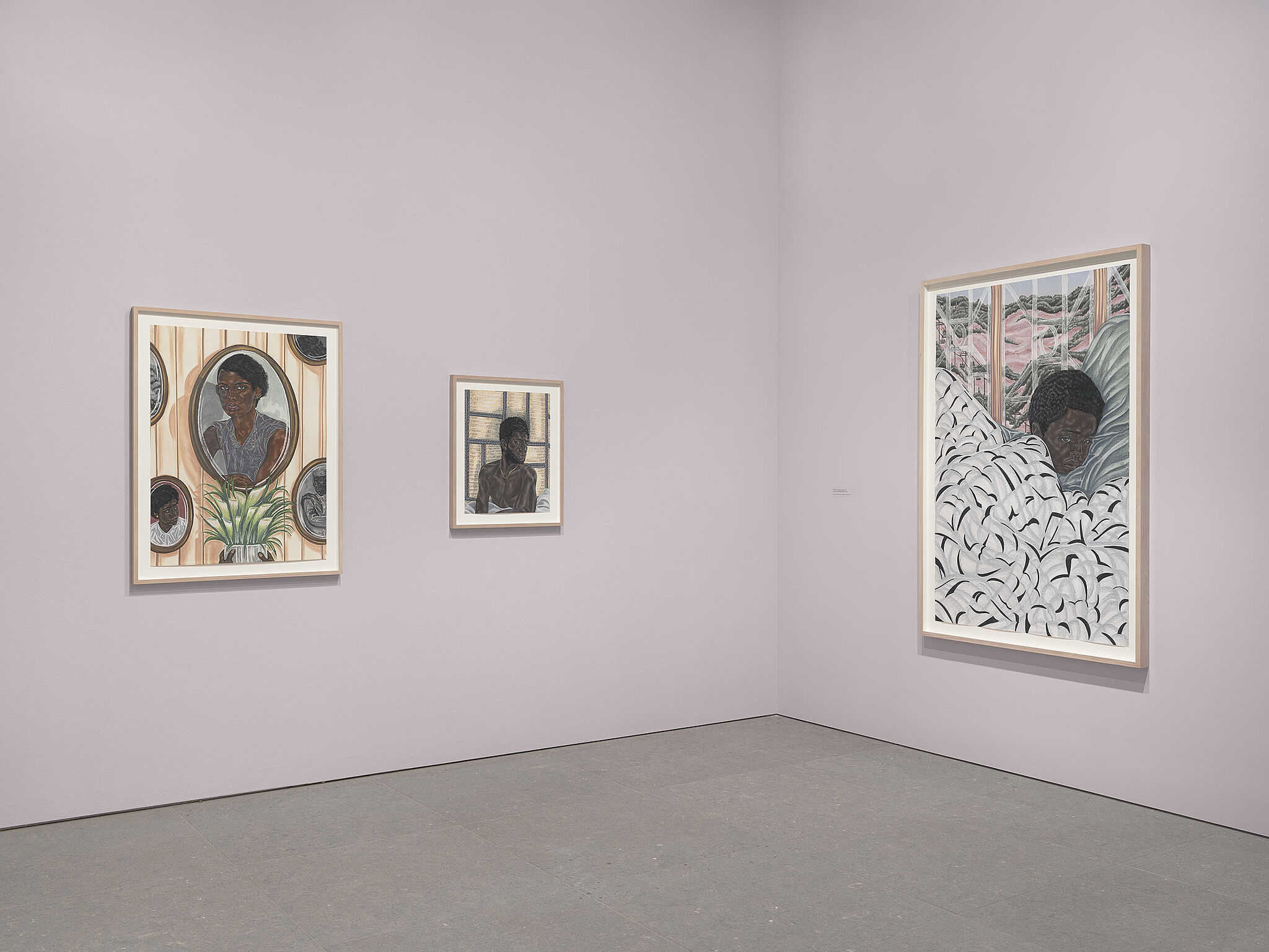Installation view of Toyin Ojih Odutola: To Wander Determined.