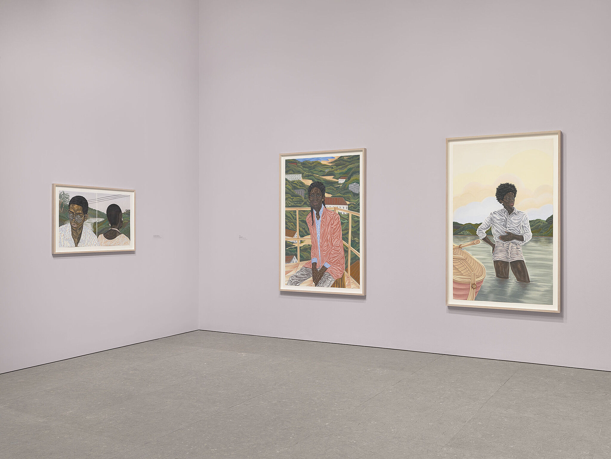 Installation view of Toyin Ojih Odutola: To Wander Determined