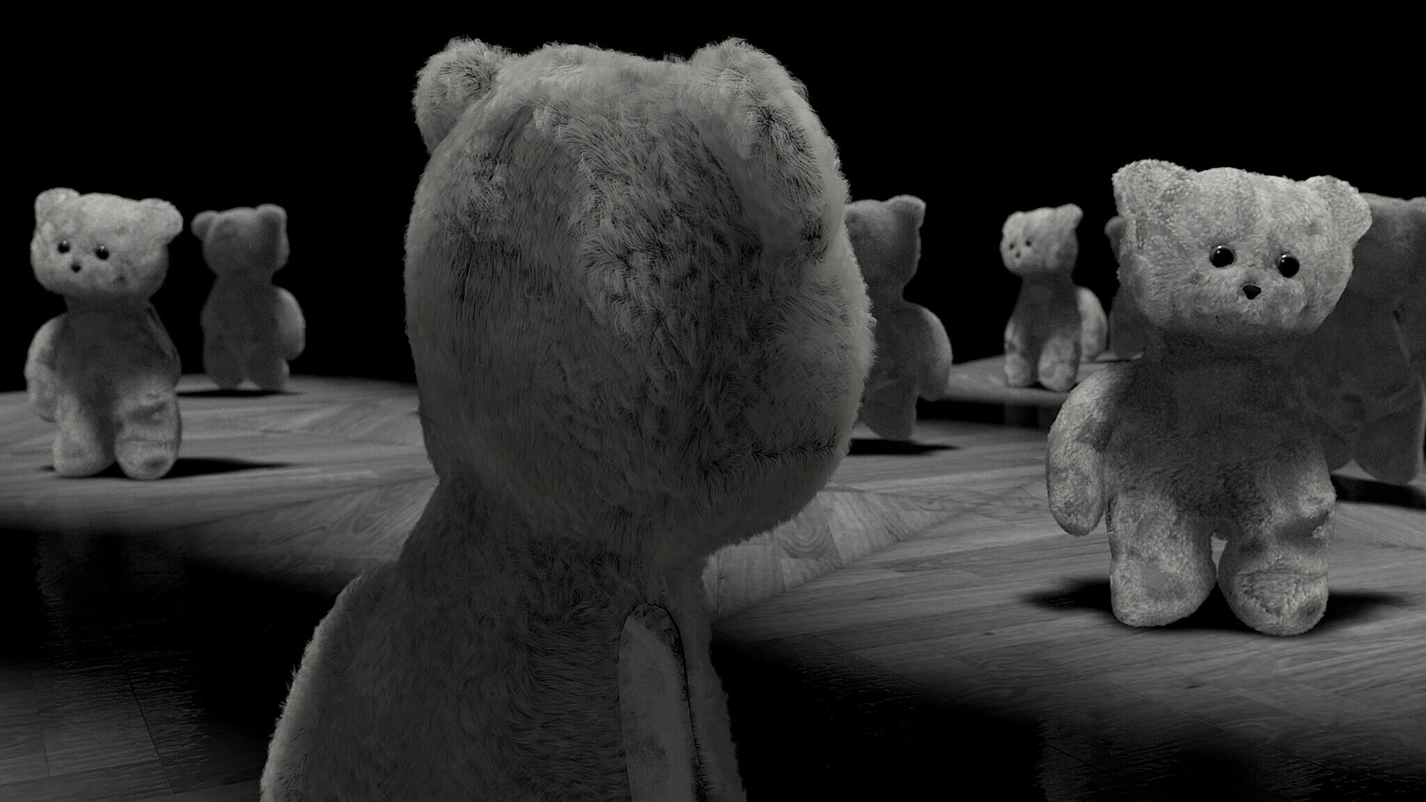 Film still of bears.