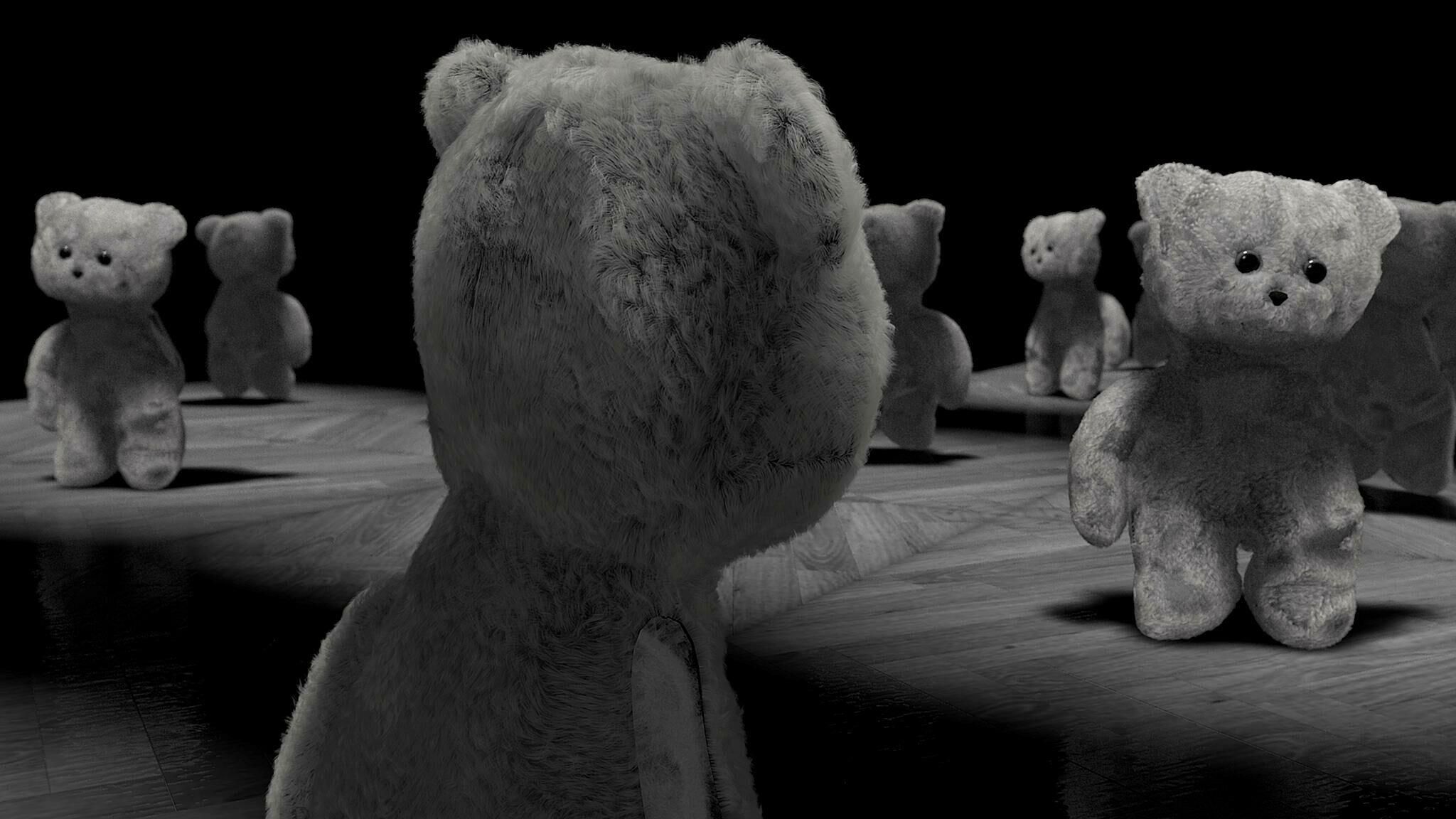 Film still of bears.
