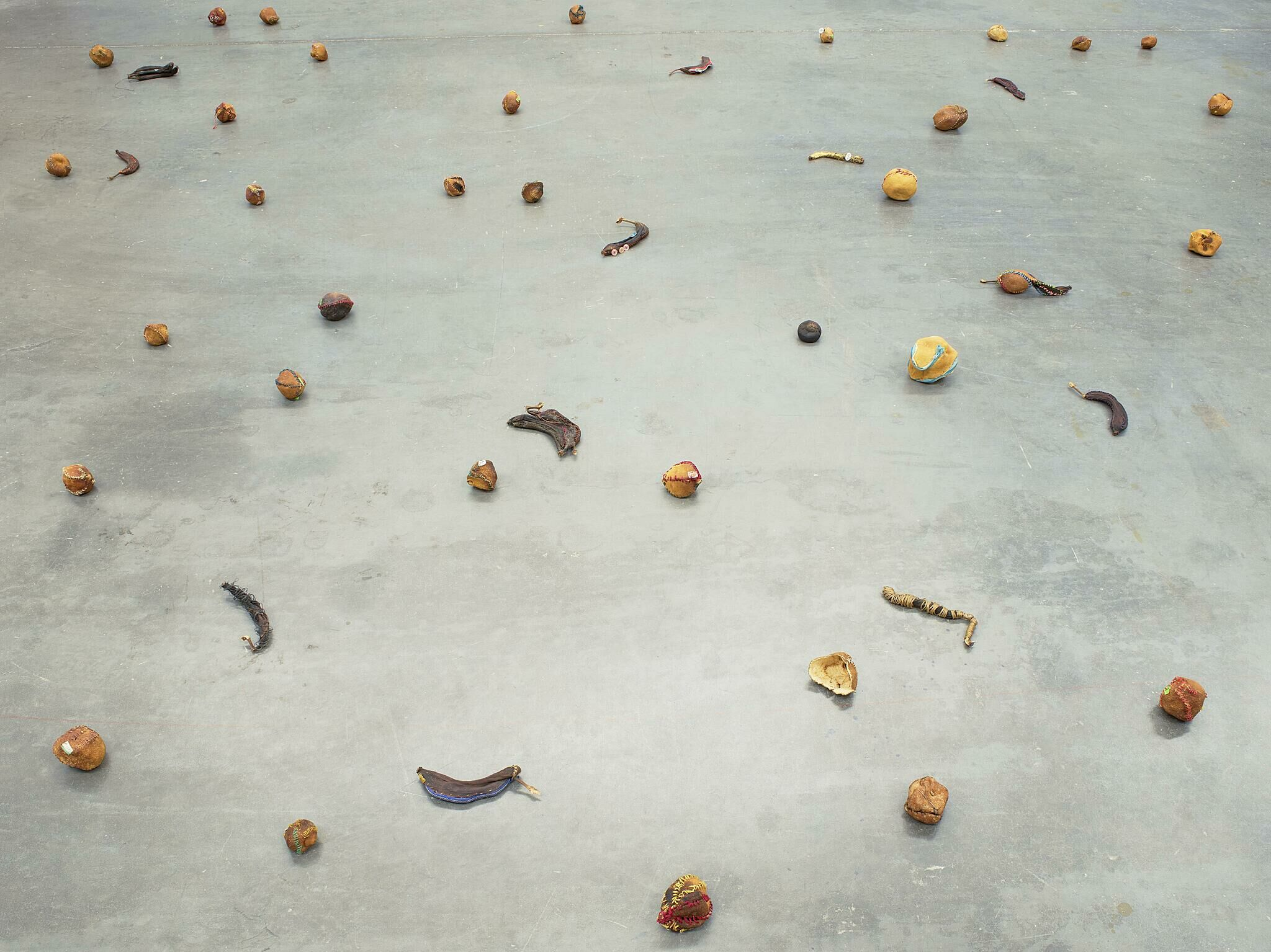 Rotting fruit on a floor.