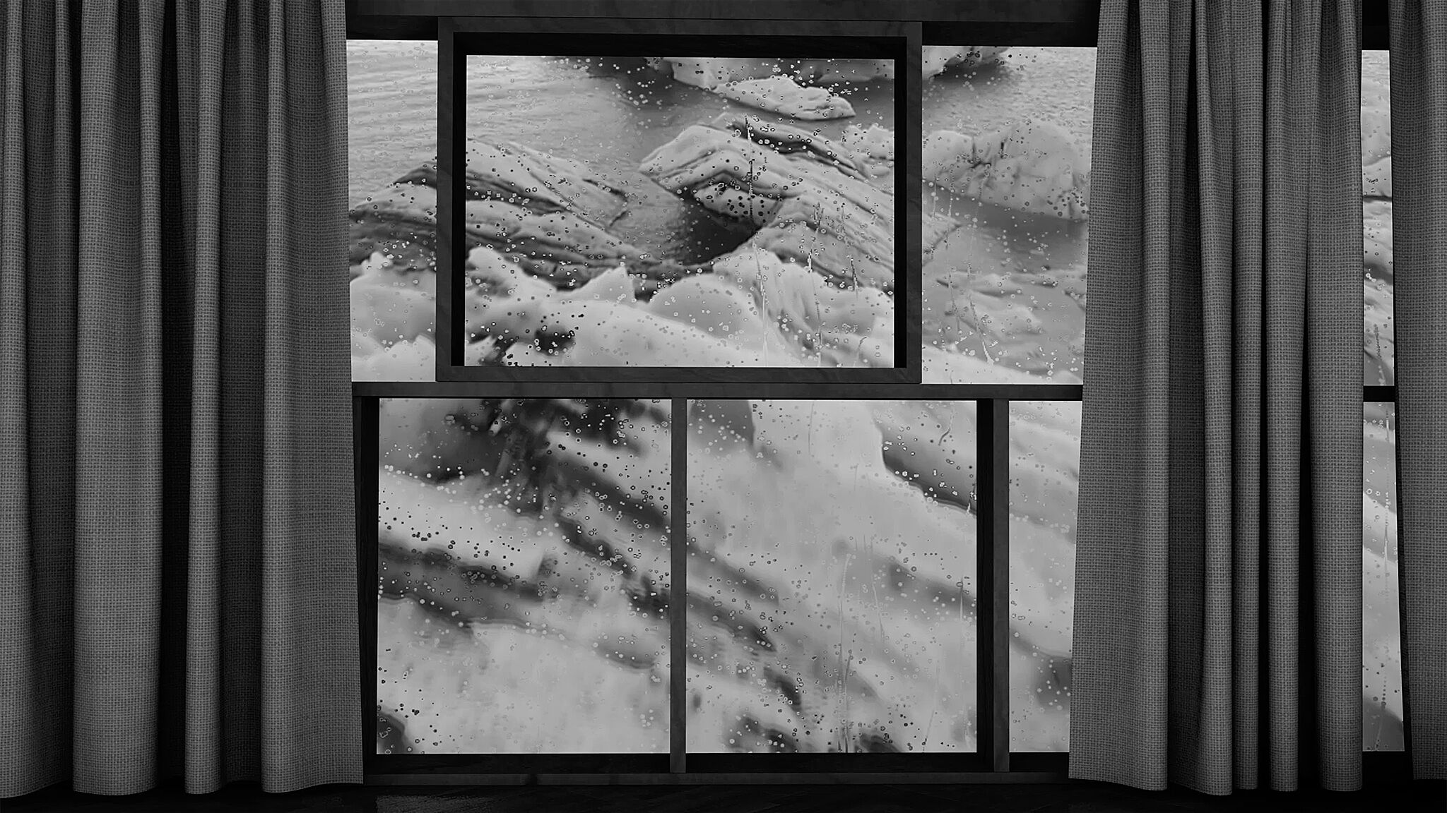 Film still of snow.