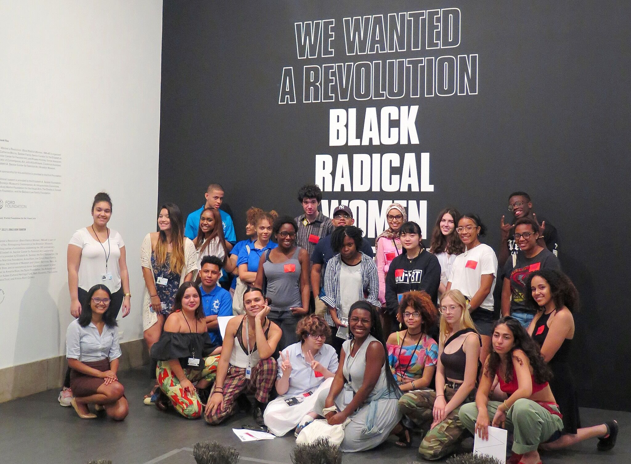 Group picture of teens at Brooklyn Museum.