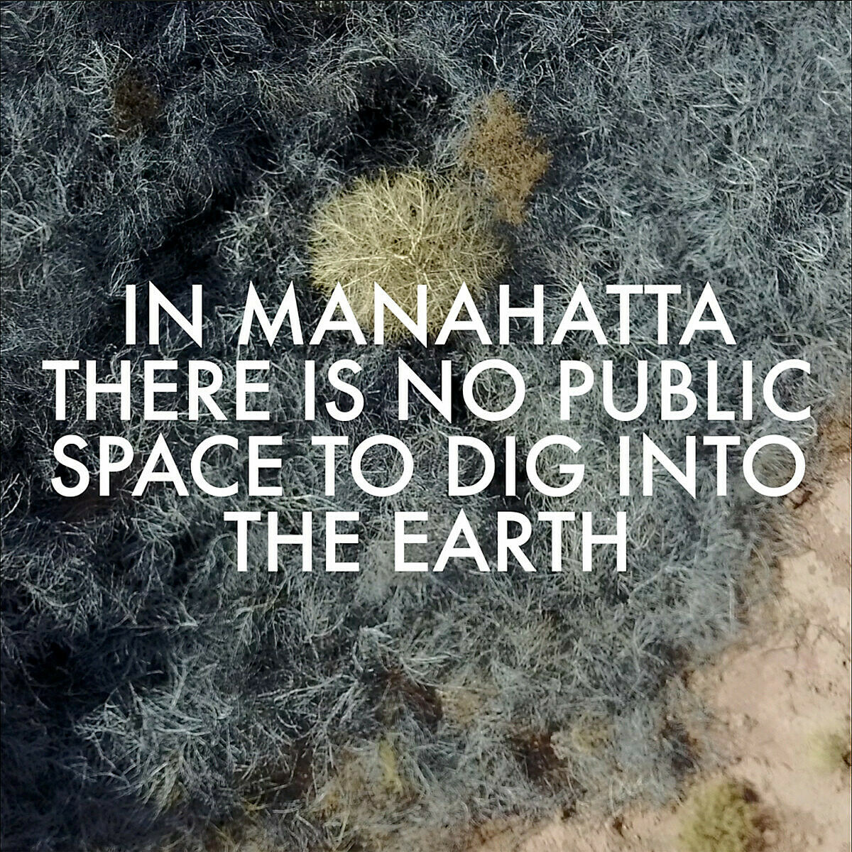 Image of ground with white text overlay.