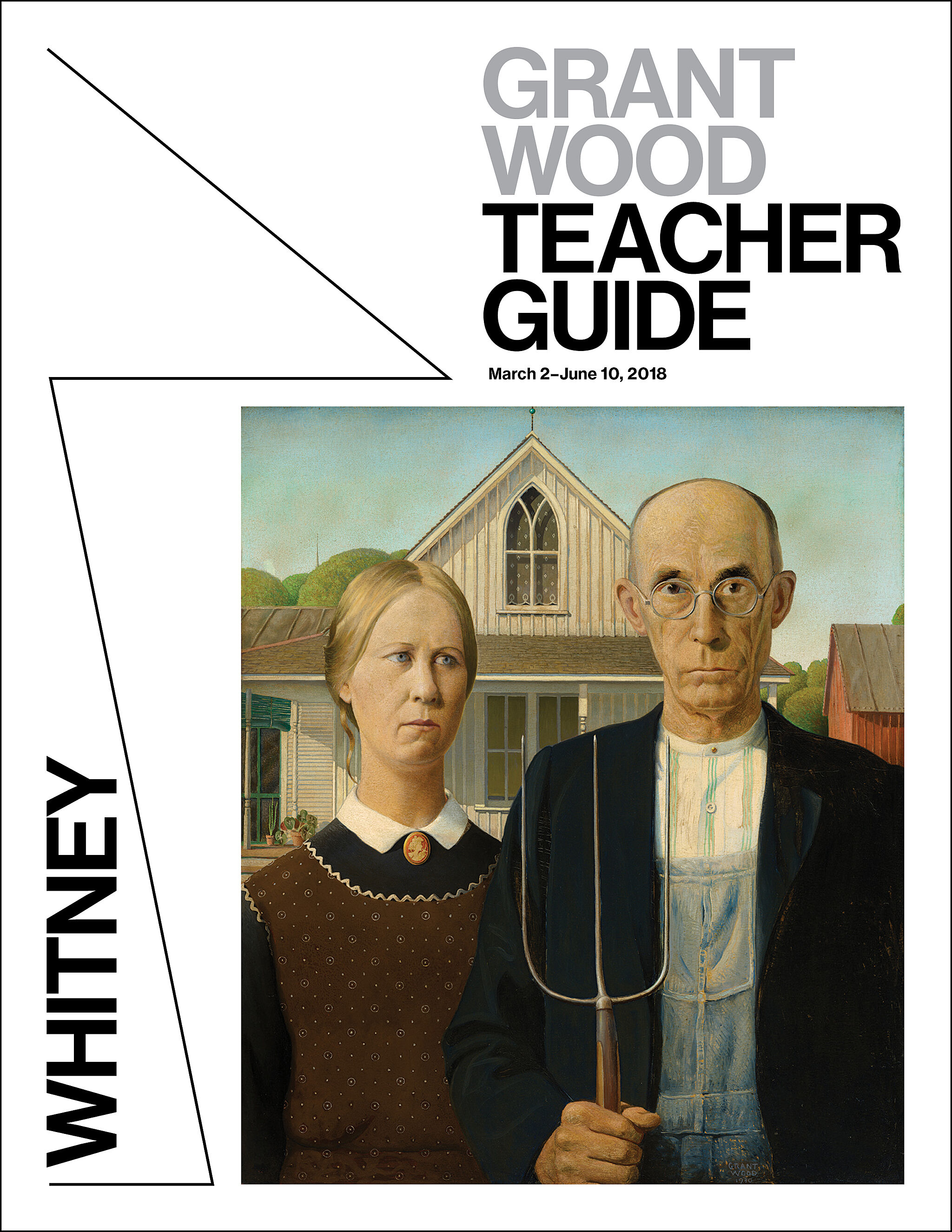 Teachers guide cover with American Gothic.