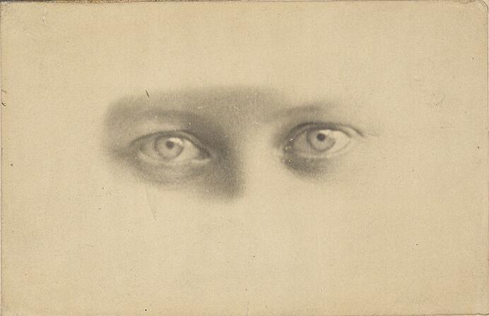 Drawing of eyes.