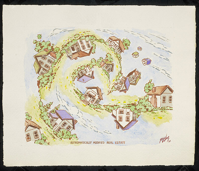 A swirl of houses