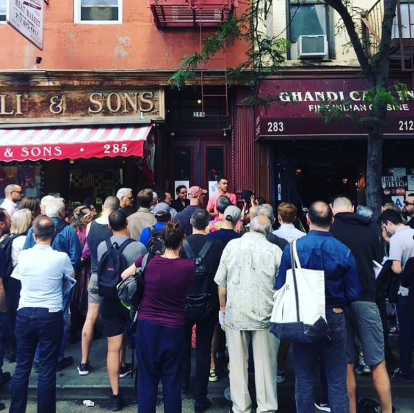 A group of people in the West Village.