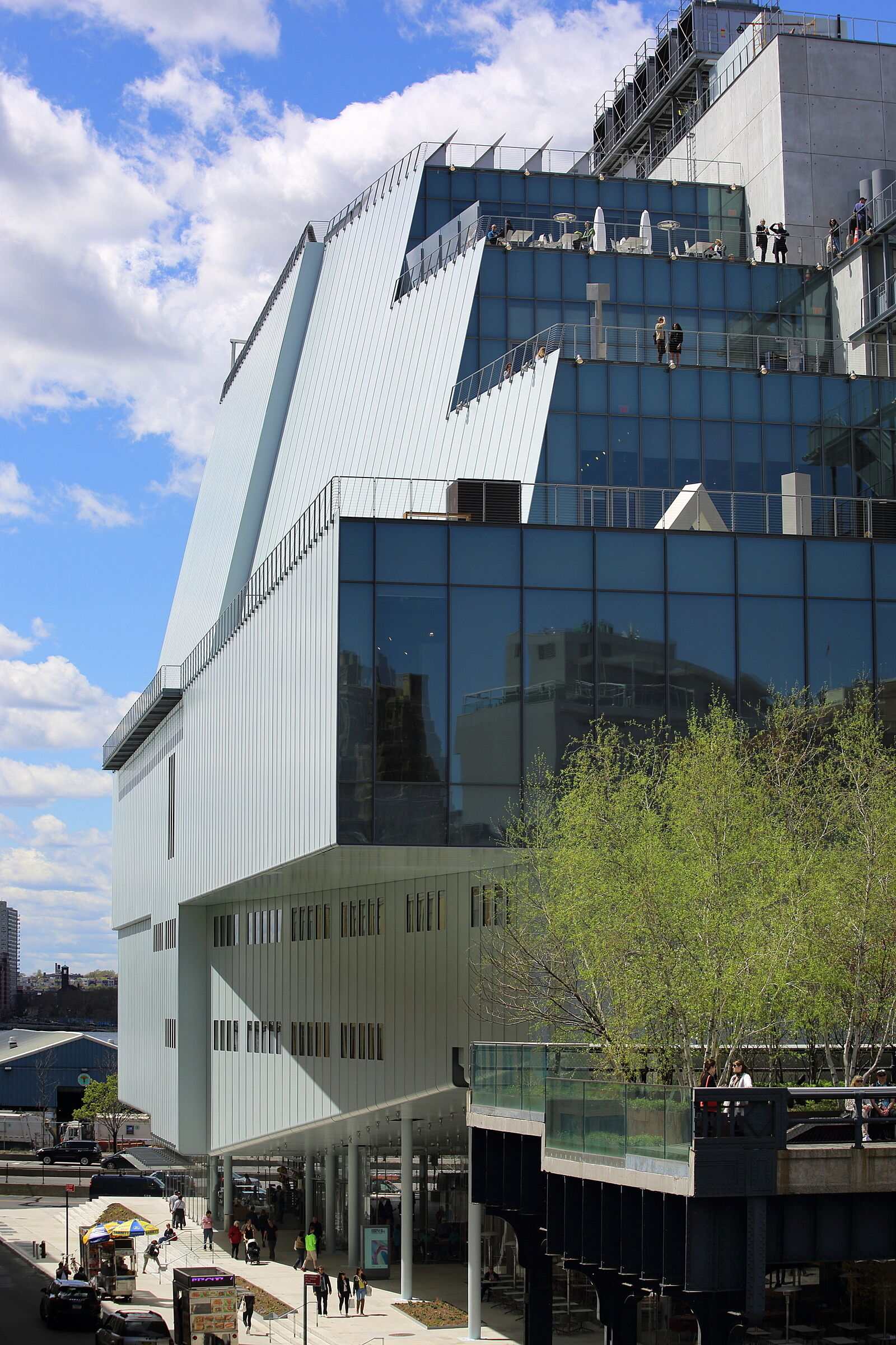 The outside of the Whitney Museum