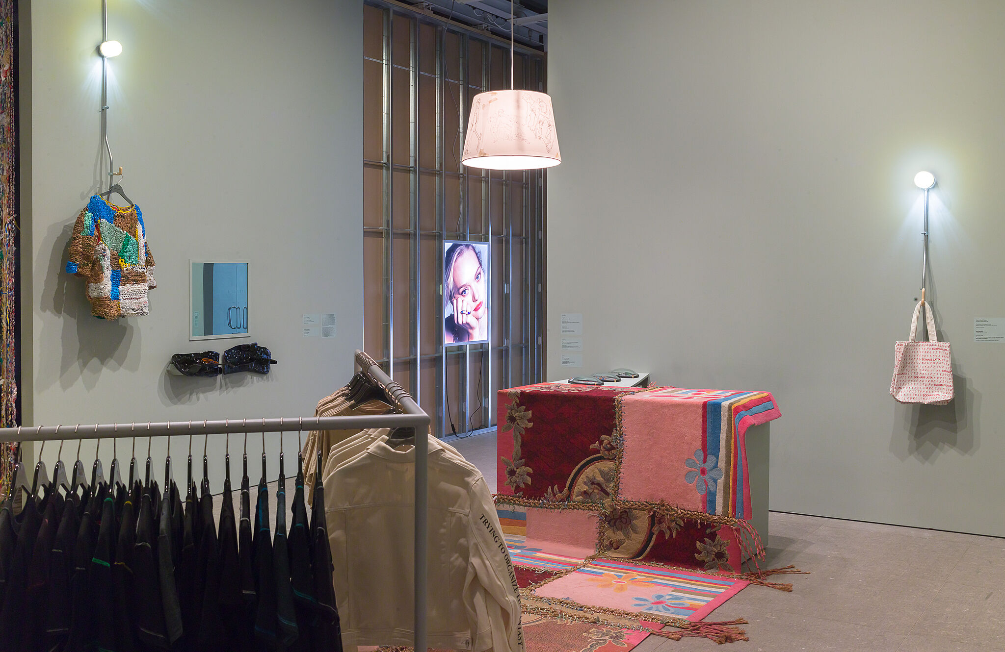 Installation view of Eckhaus Latta: Possessed.