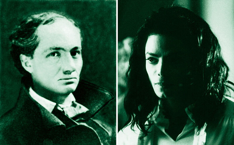 Portraits of Charles Baudelaire and Michael Jackson